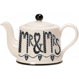 Potteries Gifts Gift Mr & Mrs Tea Pot by Moorland Pottery