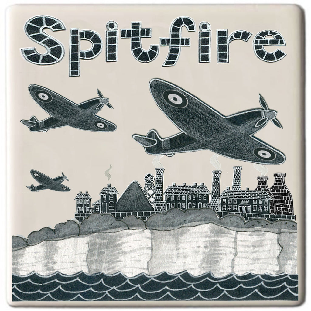 Potteries Gifts Gift Spitfire Coaster by Moorland Pottery