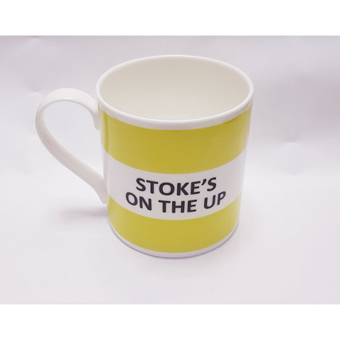Potteries Gifts Gift Stoke's on The Up Fine Bone China Mug by The Pot Bank