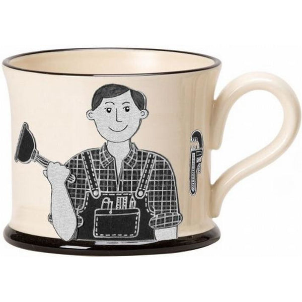 Potteries Gifts Gift Stokes Best Plumber Mug by Moorland Pottery