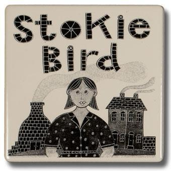 Potteries Gifts Gift Stokie Bird Coaster by Moorland Pottery