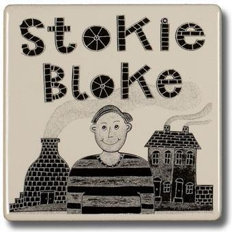 Potteries Gifts Gift Stokie Bloke Coaster by Moorland Pottery
