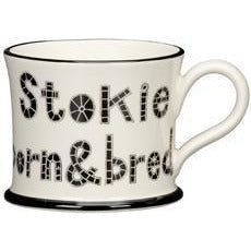 Potteries Gifts Gift Stokie Born and Bred Mug by Moorland Pottery