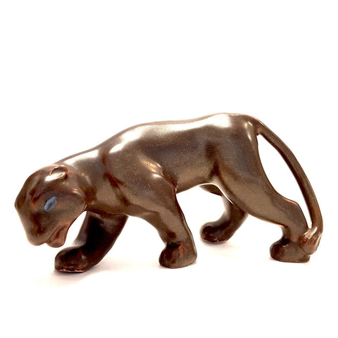 Crouching Panther circa 1940 by Agnete Hoy | Ceramics by Pottery - Handpainted | Barewall Art Gallery