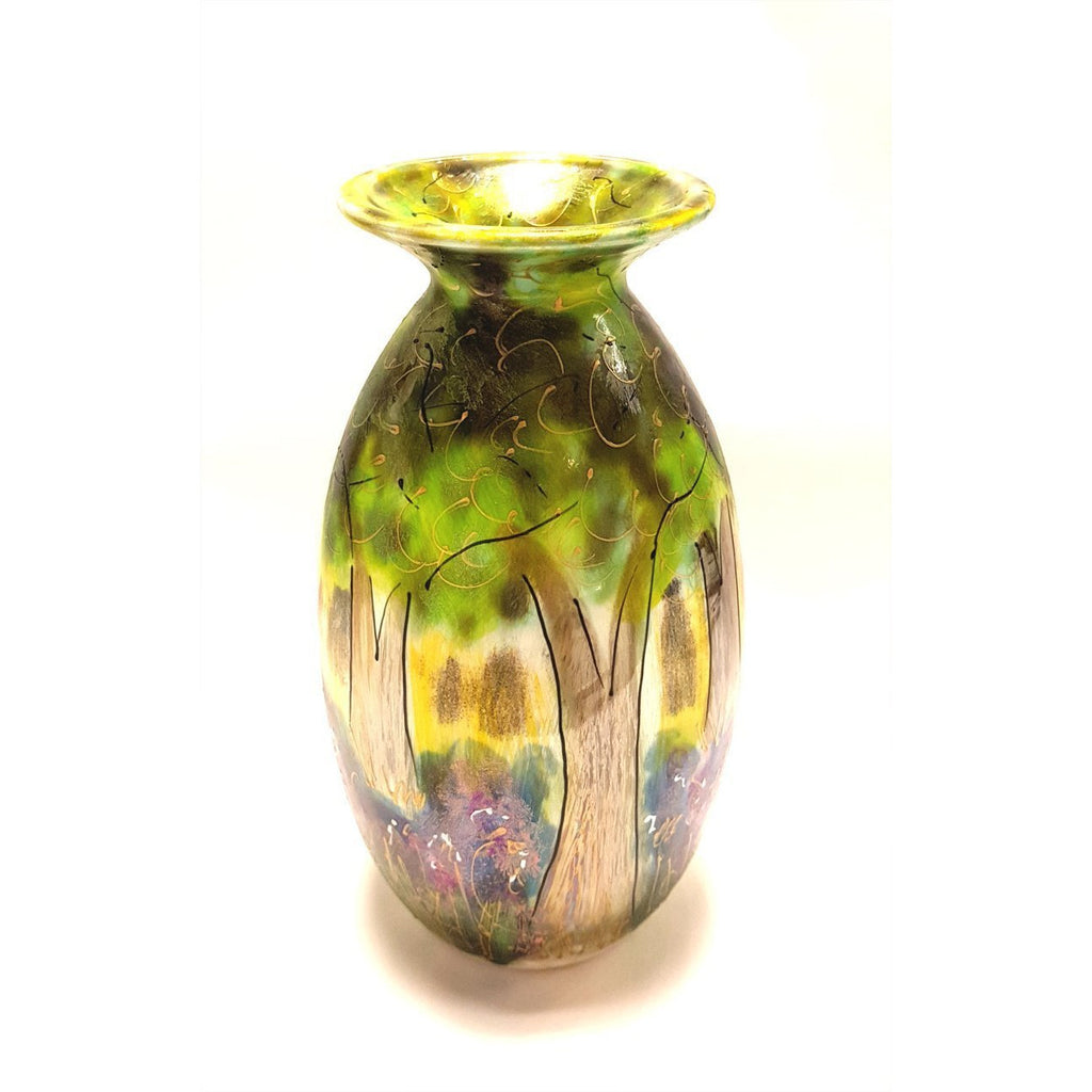 Pottery - Handpainted Ceramics Woodland Lustre Vase by Anita Harris Art Pottery