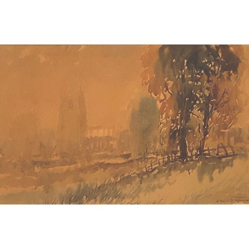 Autumn Haze, Suffolk 1968 by Reginald Haggar | Original Art by Reginald Haggar | Barewall Art Gallery