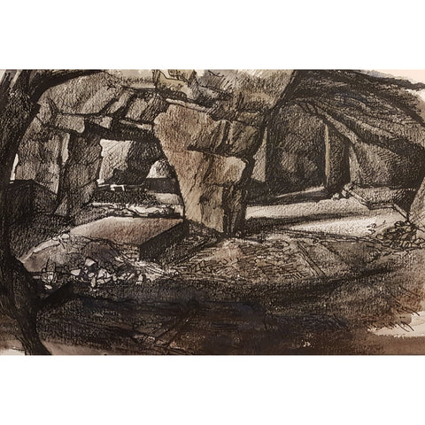 Reginald Haggar Original Art Pedestal and Cavit - Caves by Reginald Haggar