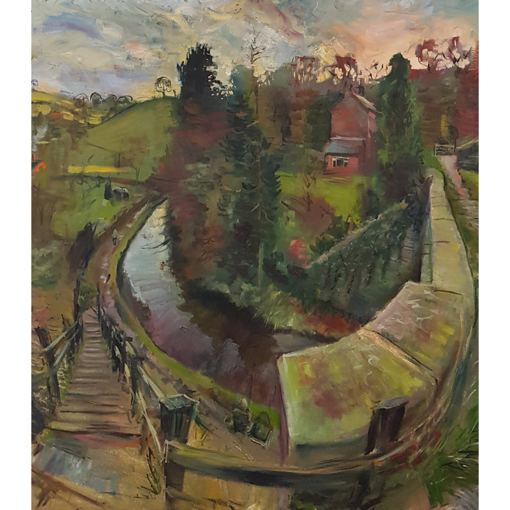 Rob Pointon Original Art Aquaduct over the Caulden c2011 by Rob Pointon