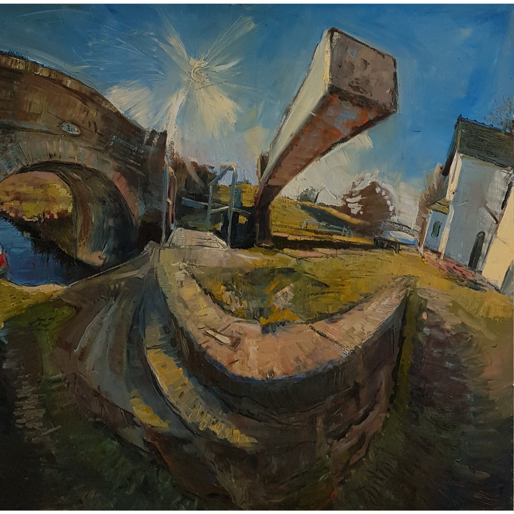 Rob Pointon Original Art Top Lock at Hazelhurst c2011 by Rob Pointon