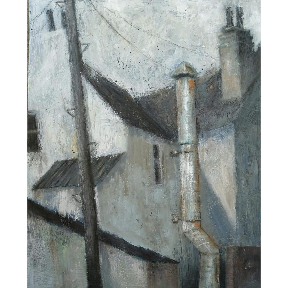 Stephen Liddle Original Art SL21. Behind the Chinese Takeaway, Chesterton by Stephen Liddle