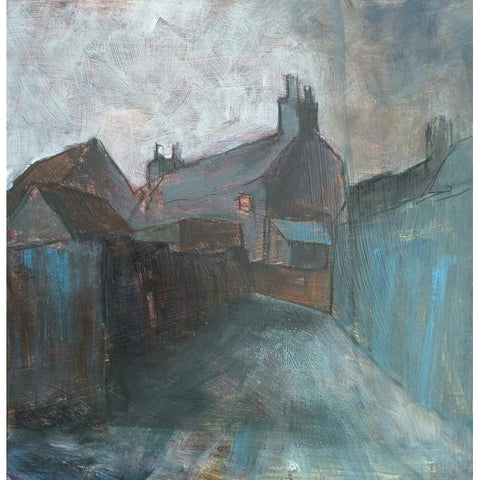 Stephen Liddle Original Art SL22. Behind Waterloo Road, Burslem by Stephen Liddle