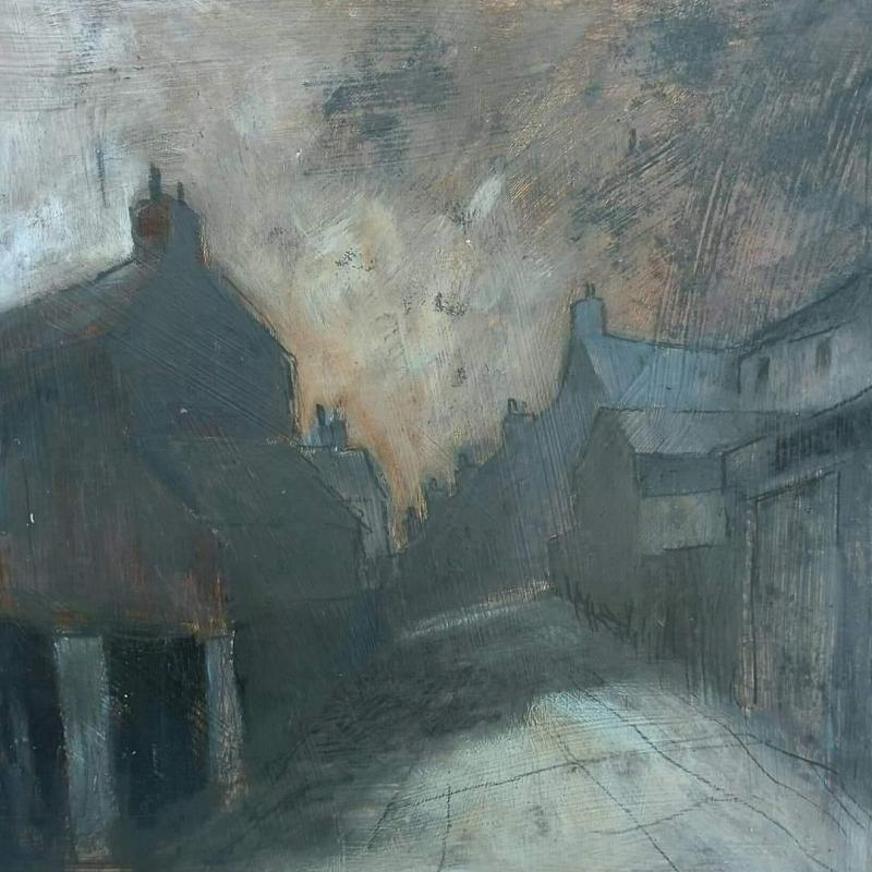 Stephen Liddle Original Art SL6. Basford Backs, Evening by Stephen Liddle