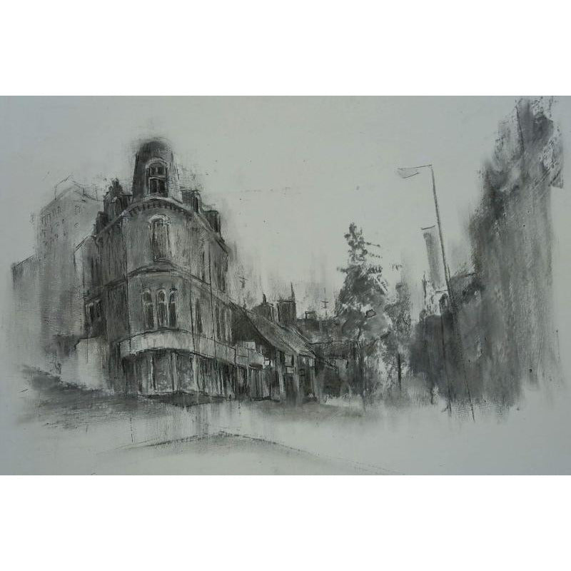 Stephen Liddle Original Art SL9. Sketch of Piccadilly, Hanley by Stephen Liddle