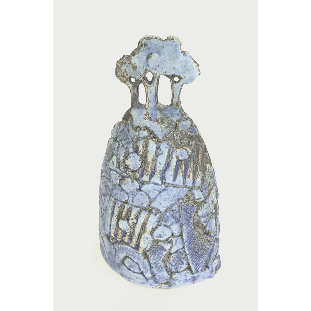 Studio Pottery Ceramics 16.5cm x 9.5cm x 7cm Blue Tree Form Ceramic Sculptures by Andrew Matheson RBSA