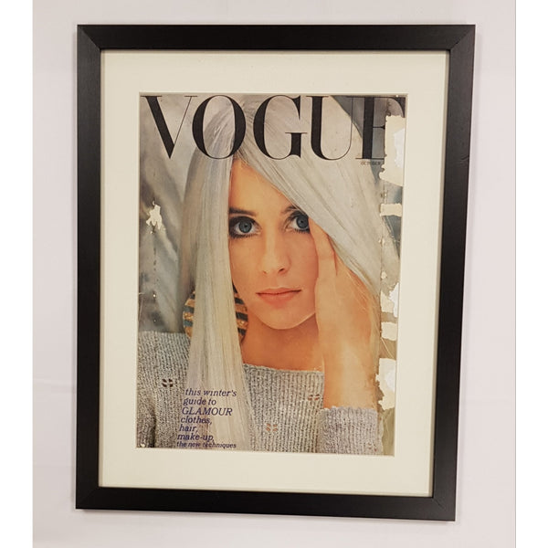 Vintage Vogue Pages Photography Original Vintage Vogue Magazine Cover 1 Oct 1966 Framed from UK Vintage Vogue Pages
