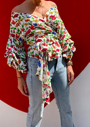 Sorrento Wrap Blouse