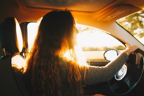 girl on road trip