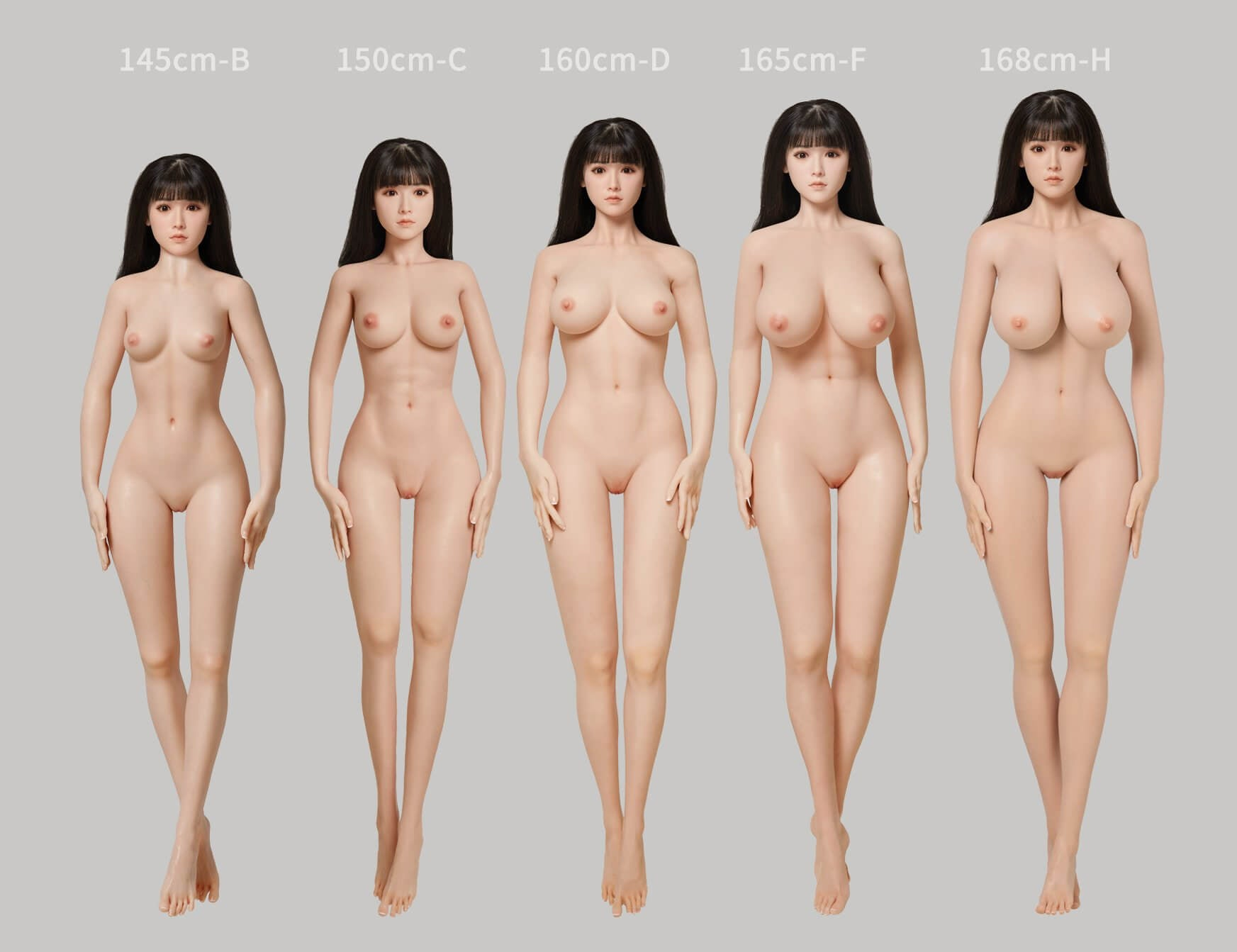 The Height Comparison Chart Of The BBdoll Silicone Love Dolls