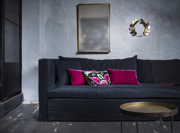 KIKI -  SLIP COVERED LINEN SOFA