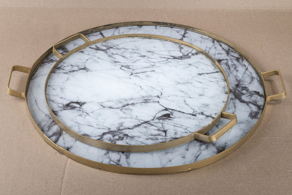 ANIKA- MARBLED TRAY