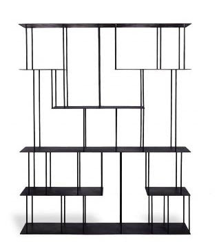MONACO- METAL BOOKCASE