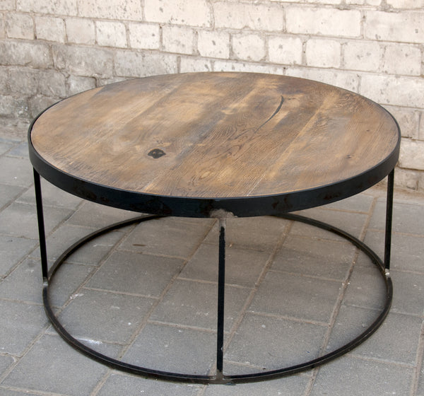 PIPER- OAK & METAL COFFEE TABLE