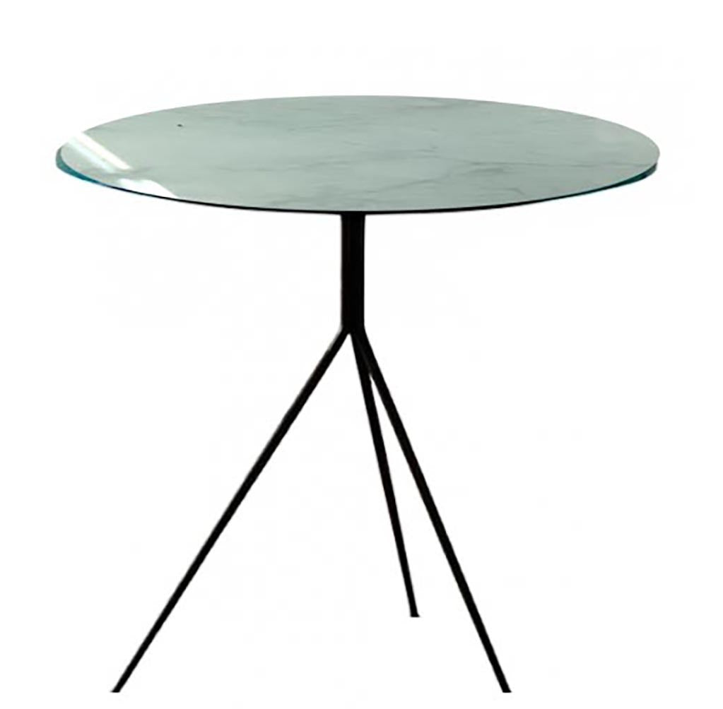 KATY- Printed glass side table