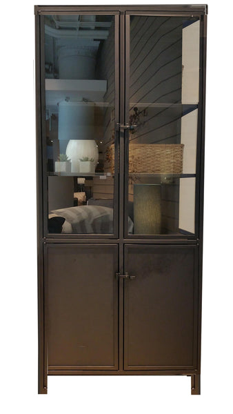 ASCOTT- METAL & GLASS ARMOIRE