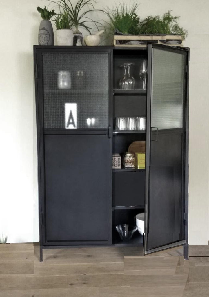 SAVANNAH-  Secure glass and  metal cabinet