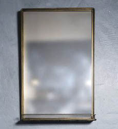 KIARA- Gold finished shelf mirror