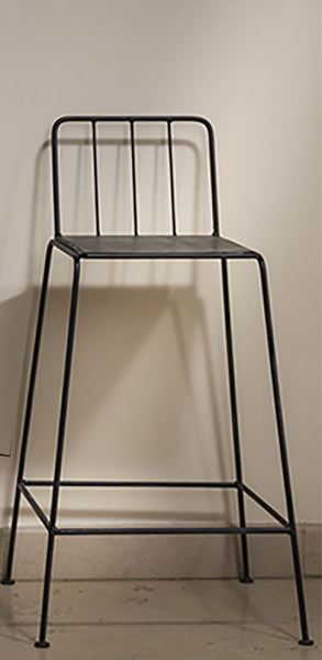 MARC- metal bar stool with back
