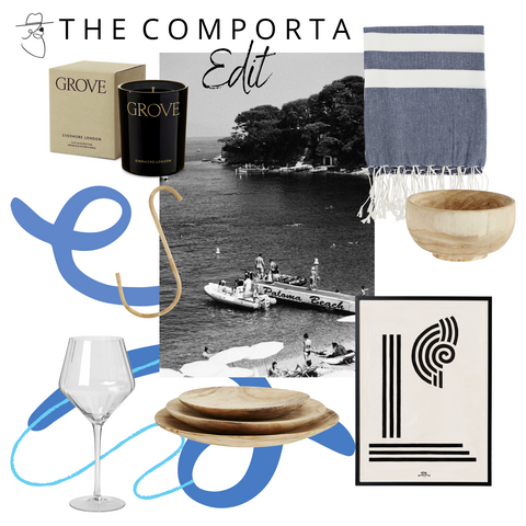 the comporta edit montage with products