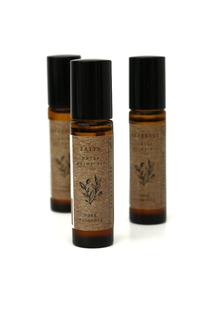 Evoke peace and understanding.  A meditative, roll on aromatherapy blend that delivers a natural dose of grounding essential oils to help focus a busy mind and align with your purpose.