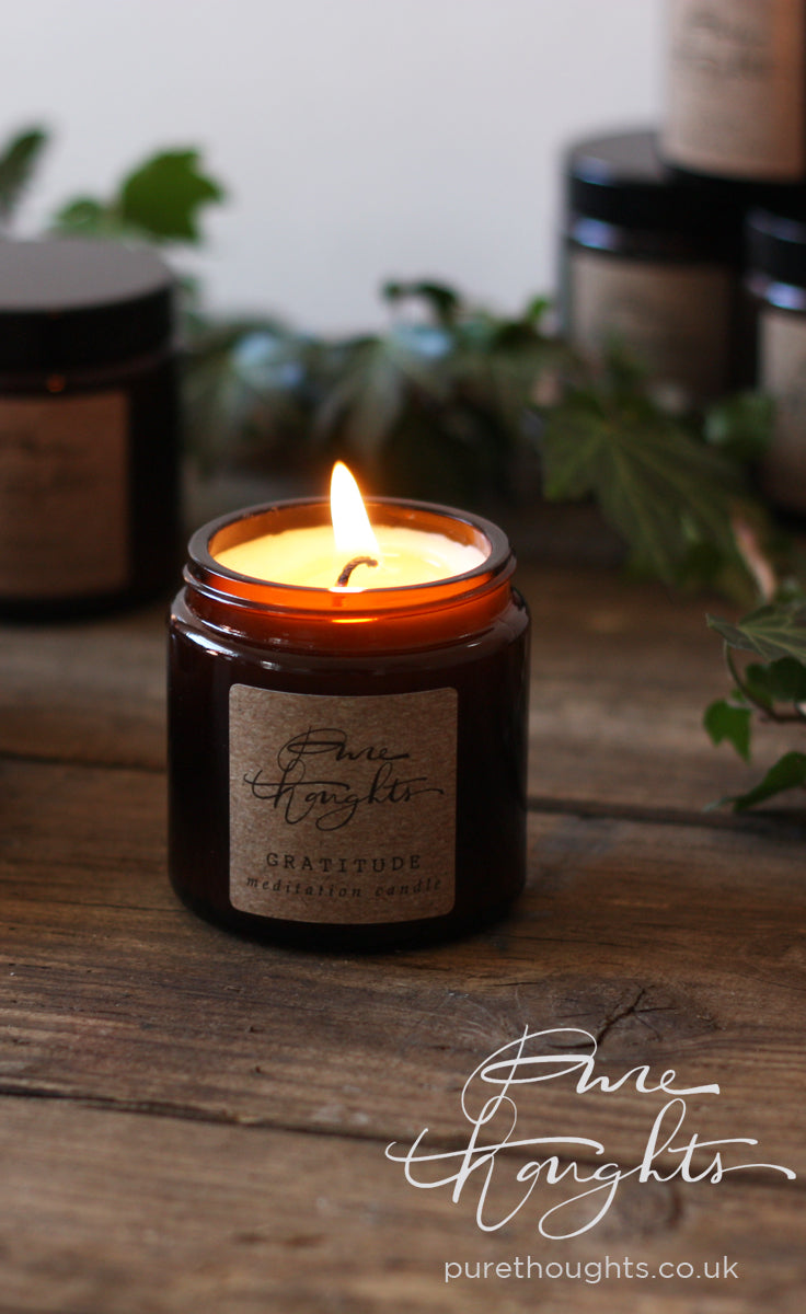 Evoke positivity and gratitude.  An aromatherapy candle made from soy wax and pure lemongrass essential oil.