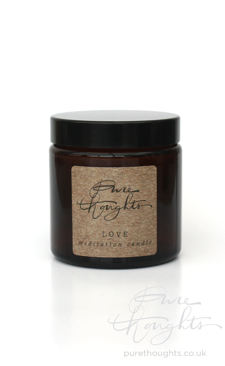 Embrace love and self acceptance.  An aromatherapy candle made from soy wax and pure geranium essential oil.