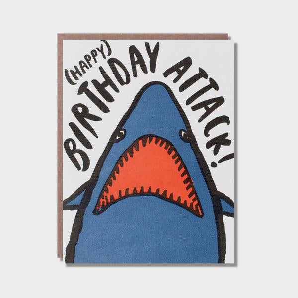 Happy Birthday Shark Attack Greetings Card