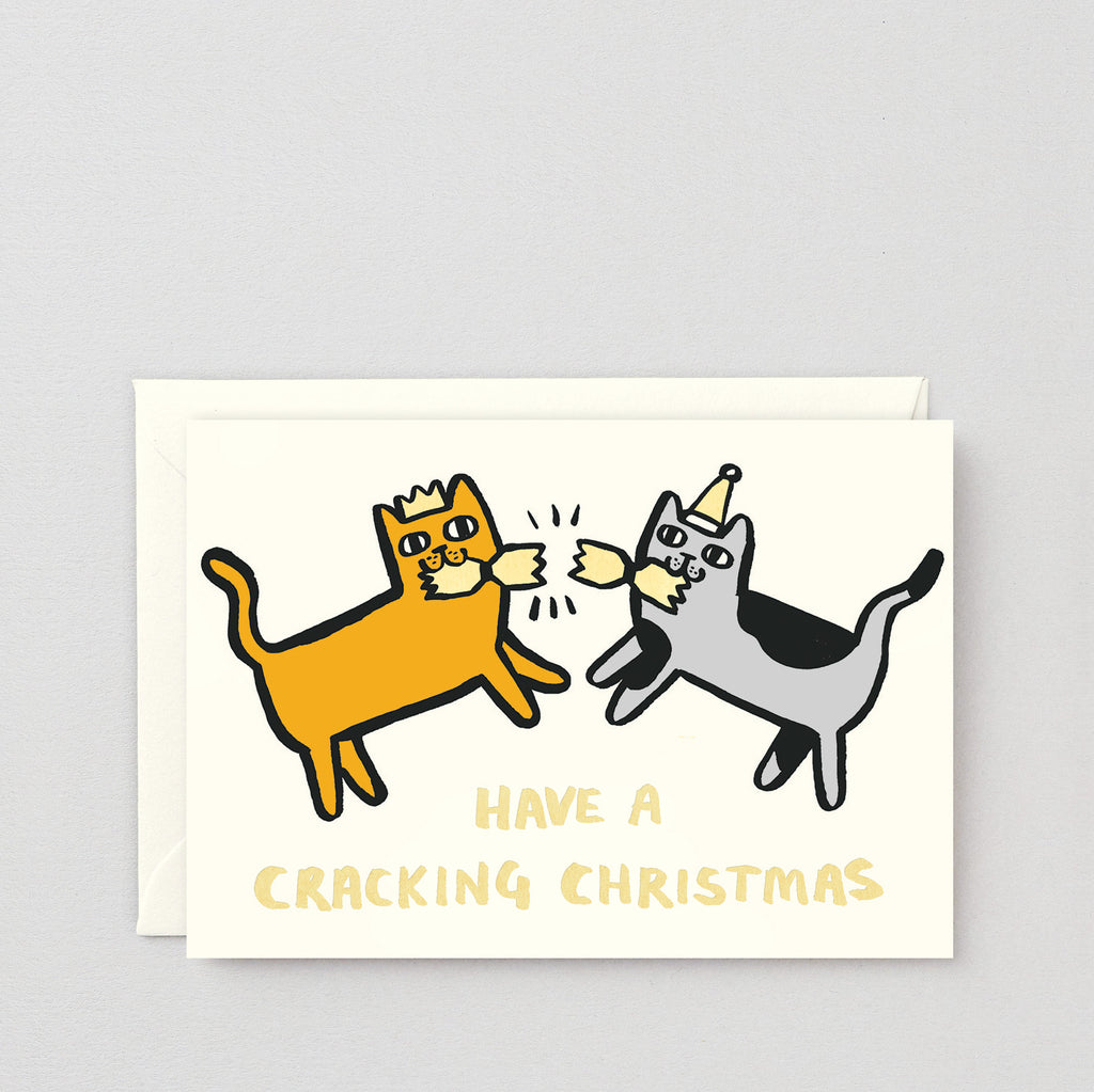 Have a Cracking Christmas Cats Greetings Card