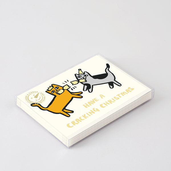 Have a Cracking Christmas Cats Boxed Card Set