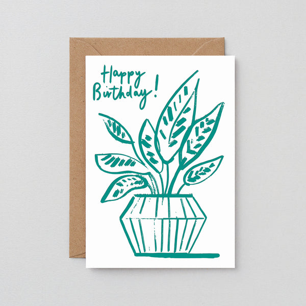 Happy Birthday Prayer Leaf Greetings Card