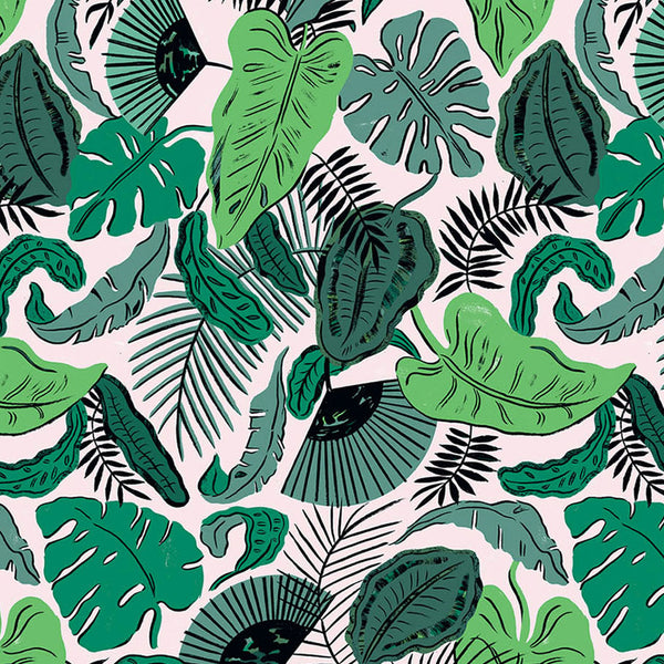 Tropical Leaves Gift Wrap (Click-and-Collect only)