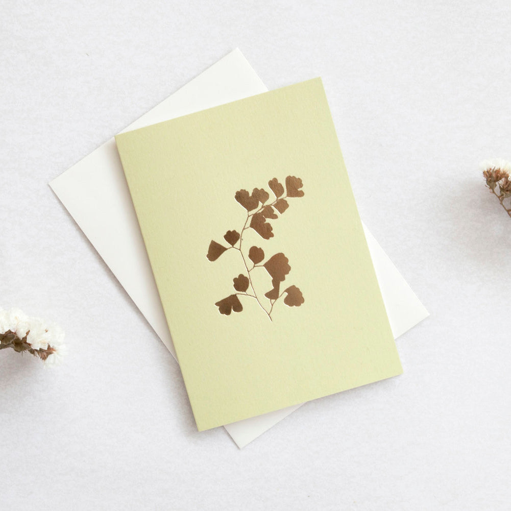 Fern Foil Blocked Greetings Card
