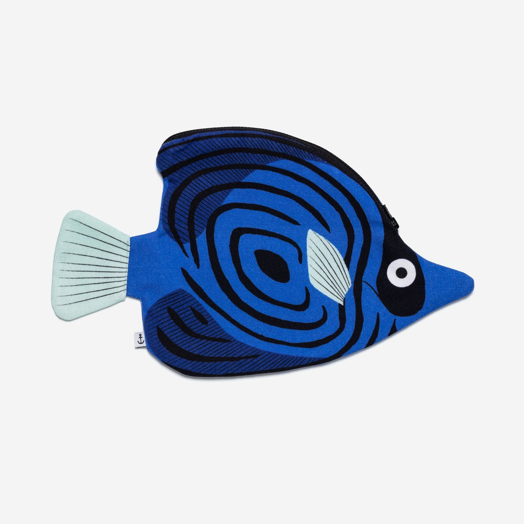 Don Fisher Blue Batfish Purse