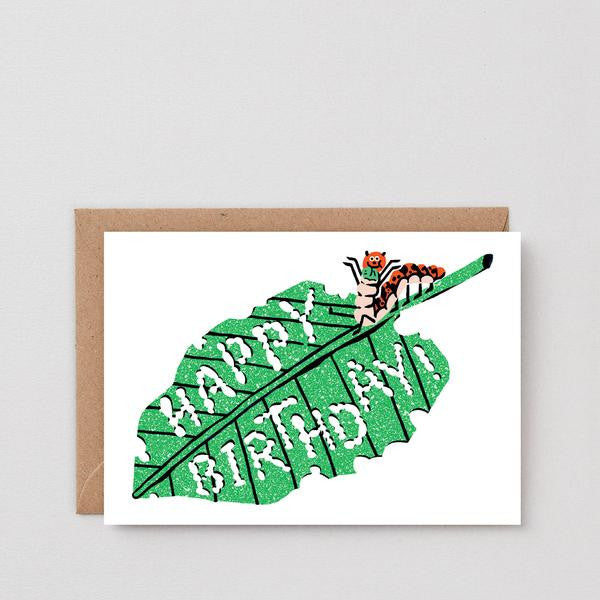 Caterpillar Greetings Card
