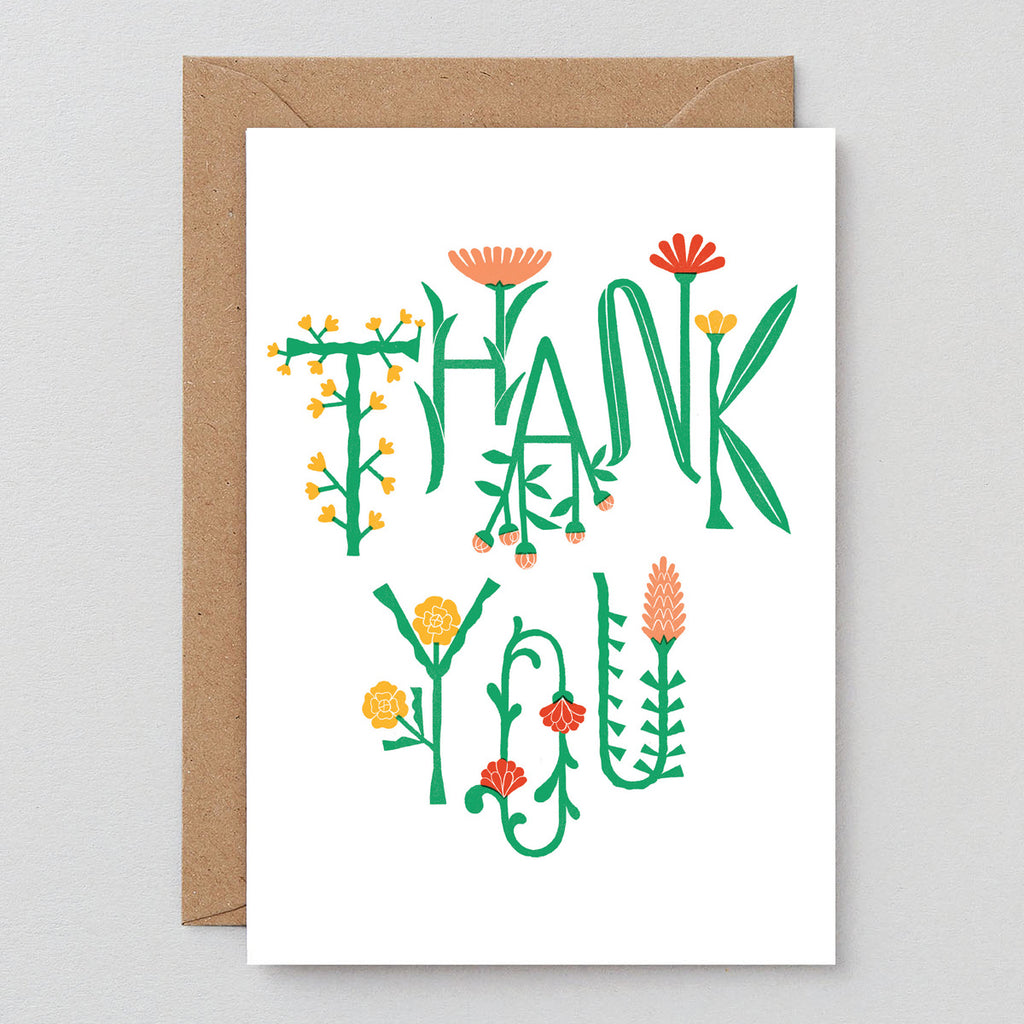 Thank You Vine Greetings Card