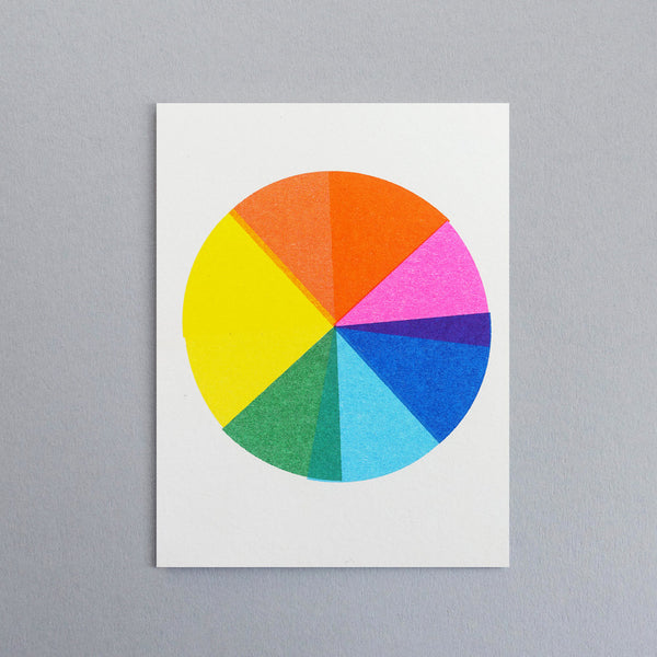 Colour Wheel Mini Greetings Card
