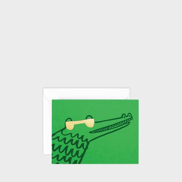 Croc Mini Letterpress Card