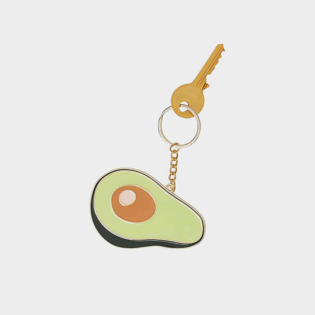 Oversized Avocado Keyring