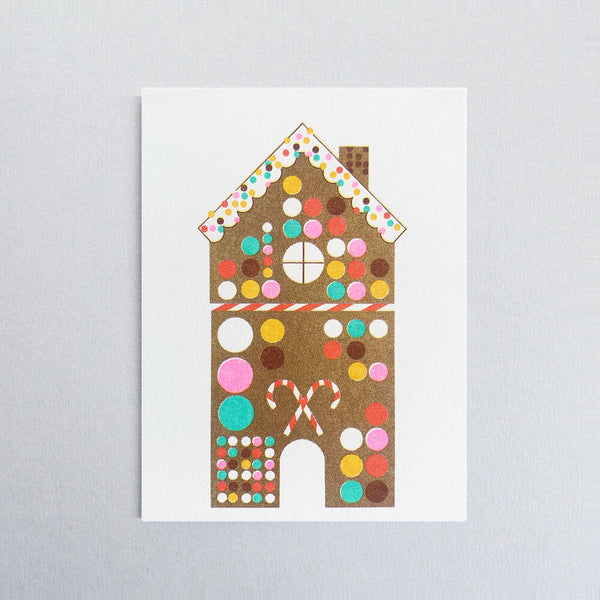 Gingerbread House Christmas Mini Greetings Card