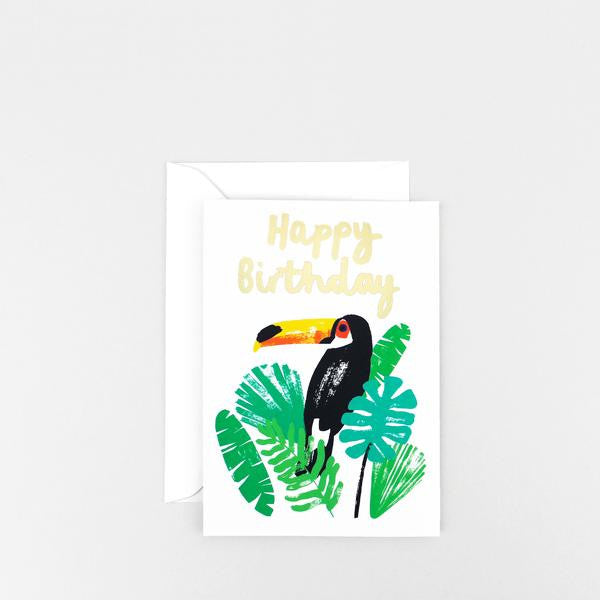 Happy Birthday Toucan Greetings Card