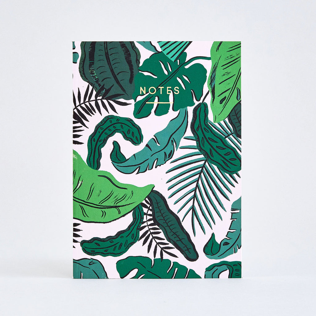 Tropical Leaves Large Notebook